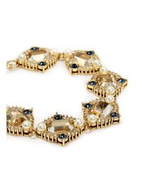 St. John | Metallic 'ornate' Swarovski Crystal Pearl Pavé Bracelet | Lyst