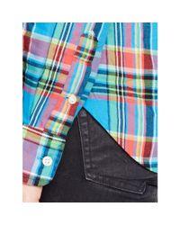 Polo Ralph Lauren - Blue Plaid Cotton Twill Shirt - Lyst