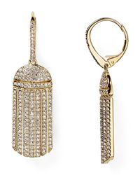 Nadri - Metallic Pavé Tassel Drop Earrings - Lyst
