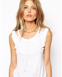 ASOS - Metallic Fine Choker And Drop Necklace - Lyst
