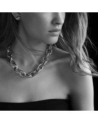 David Yurman - Metallic Oval Ultra Large Link Necklace - Lyst