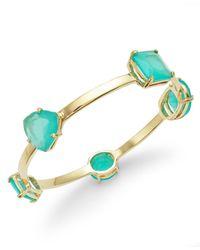 kate spade new york - Blue Gold-Tone Stone Station Bangle Bracelet - Lyst
