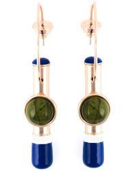 Tory Burch - Blue Pendant Hoop Earring - Lyst