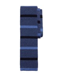 Brooks Brothers | Blue Melange Stripe Knit Tie for Men | Lyst