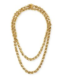 Ashley Pittman | Metallic Mini Chain Bronze Necklace | Lyst