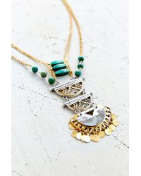 Urban Outfitters | Green Fortune Stone Necklace | Lyst