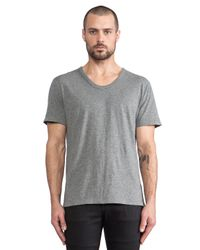 T By Alexander Wang | Gray Classic Low Neck Tee for Men | Lyst