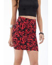 Forever 21 - Black Superman Bodycon Skirt - Lyst