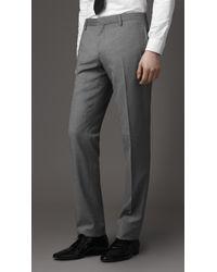 Burberry - Gray Modern Fit Virgin Wool Suit for Men - Lyst