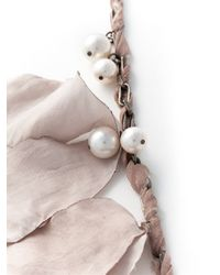 Lanvin | Pink Contrasting Panel Necklace | Lyst