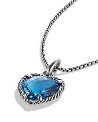 David Yurman | Cable Heart Pendant With Hampton Blue Topaz | Lyst