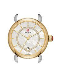 Michele - Metallic 'csx Elegance' Diamond Dial Watch Case - Lyst