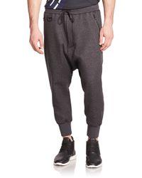 Y-3 - Gray Future Harem Sweatpants for Men - Lyst