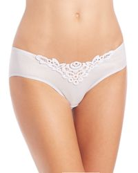 Hanro | White Isabeau Embroidered Lace High-cut Brief | Lyst