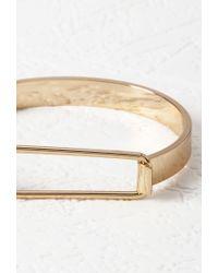 Forever 21 | Metallic Cutout Hinge Closure Bracelet | Lyst