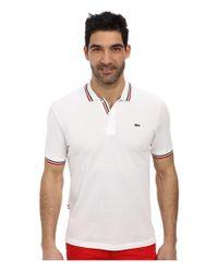Lacoste | White Live Short Sleeve Semi-fancy Pique Shirt | Lyst