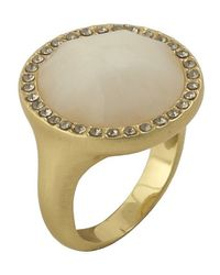 Karen Kane | Metallic Everbloom Eternity Cocktail Ring | Lyst