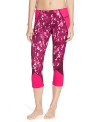 Zella | Purple 'live In-mix It Up' Slim Fit Capris | Lyst
