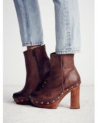 Free People | Brown Phantom Clog Boot | Lyst