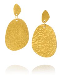 Yossi Harari | Metallic Melissa 24-Karat Gold Earrings | Lyst