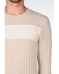 Emporio Armani | Natural Crewneck for Men | Lyst