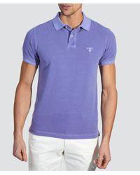Gant - Purple Sunbleached Polo Shirt for Men - Lyst