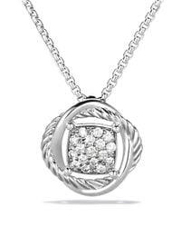 David Yurman | Metallic Infinity Pendant With Diamonds On Chain | Lyst