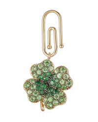 Aurelie Bidermann | Green Aurélie Bidermann Fine Jewelry 18kt Gold Clover Pendant With Tsavorites | Lyst