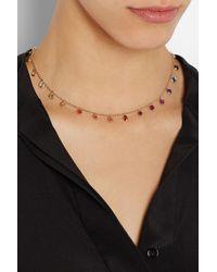 Bibi Van Der Velden - Metallic Rainbow 18karat Rose Gold Sapphire Necklace - Lyst