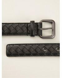 Bottega Veneta - Black Intrecciato Belt - Lyst