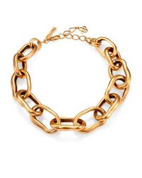Oscar de la Renta | Metallic Link Necklace | Lyst