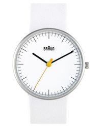 Braun | White 'classic' Strap Watch for Men | Lyst