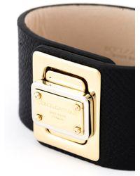 Dolce & Gabbana   Black Logo Plaque Cuff   Lyst