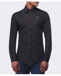 Vivienne Westwood Black One Button Orb Shirt for men