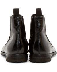 Officine Creative | Black Leather Archive Chelsea Boots for Men | Lyst