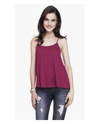 Express | Purple Strappy Back Trapeze Cami | Lyst