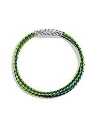 David Yurman - Green Chevron Triple-Wrap Bracelet for Men - Lyst
