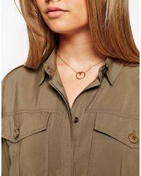 ASOS - Metallic Triangle Swing Necklace - Lyst