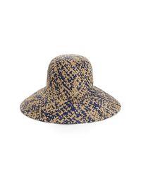 BCBGMAXAZRIA - Blue High Crown Floppy Hat - Lyst