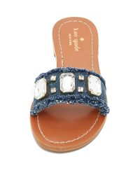 kate spade new york - Blue Chance Slides - Lyst