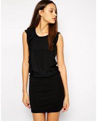 Y.A.S | Black Ruffle Side Dress | Lyst