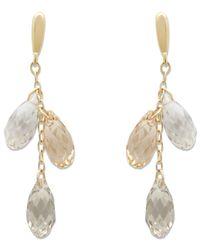 Swarovski | Metallic Lagoon Crystal Earrings | Lyst