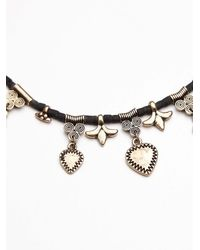 Free People | Black Rachel Beaded Collar | Lyst