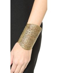 Aurelie Bidermann - Metallic Talitha 18kt Gold Plated Bracelet - Lyst
