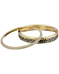 Michael Kors | Metallic Animal Instinct Bangle Bracelet | Lyst