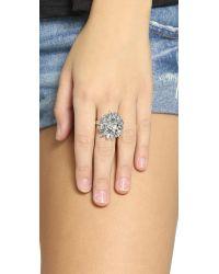 DANNIJO | Metallic Colt Ring - Silver/crystal | Lyst
