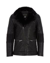 River Island | Boys Black Leather-look Biker Jacket | Lyst