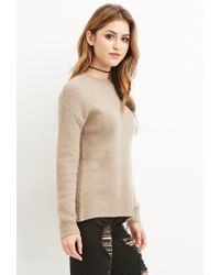 Forever 21 | Brown Classic Fuzzy Sweater | Lyst