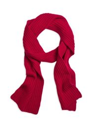 Brooks Brothers | Red Ribbed Cashmere Scarf for Men | Lyst