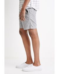 Forever 21 - Gray Cotton Drawstring Shorts for Men - Lyst